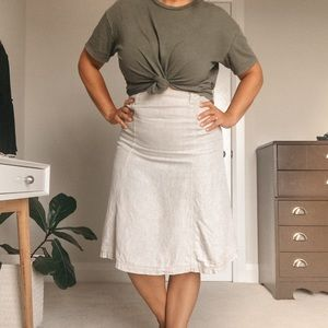 100% Linen Fit and Flare Skirt Sigrid Olsen